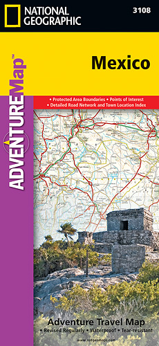 Mexiko Adventure Map GPS komp. NGS