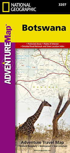 detail Botswana Adventure Map GPS komp. NGS
