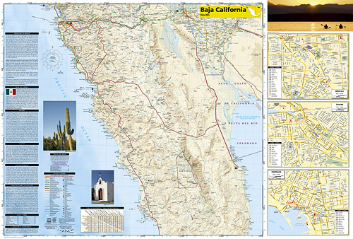detail Baja California Sever Adventure Map GPS komp. NGS