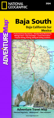 Baja California Jih Adventure Map GPS komp. NGS