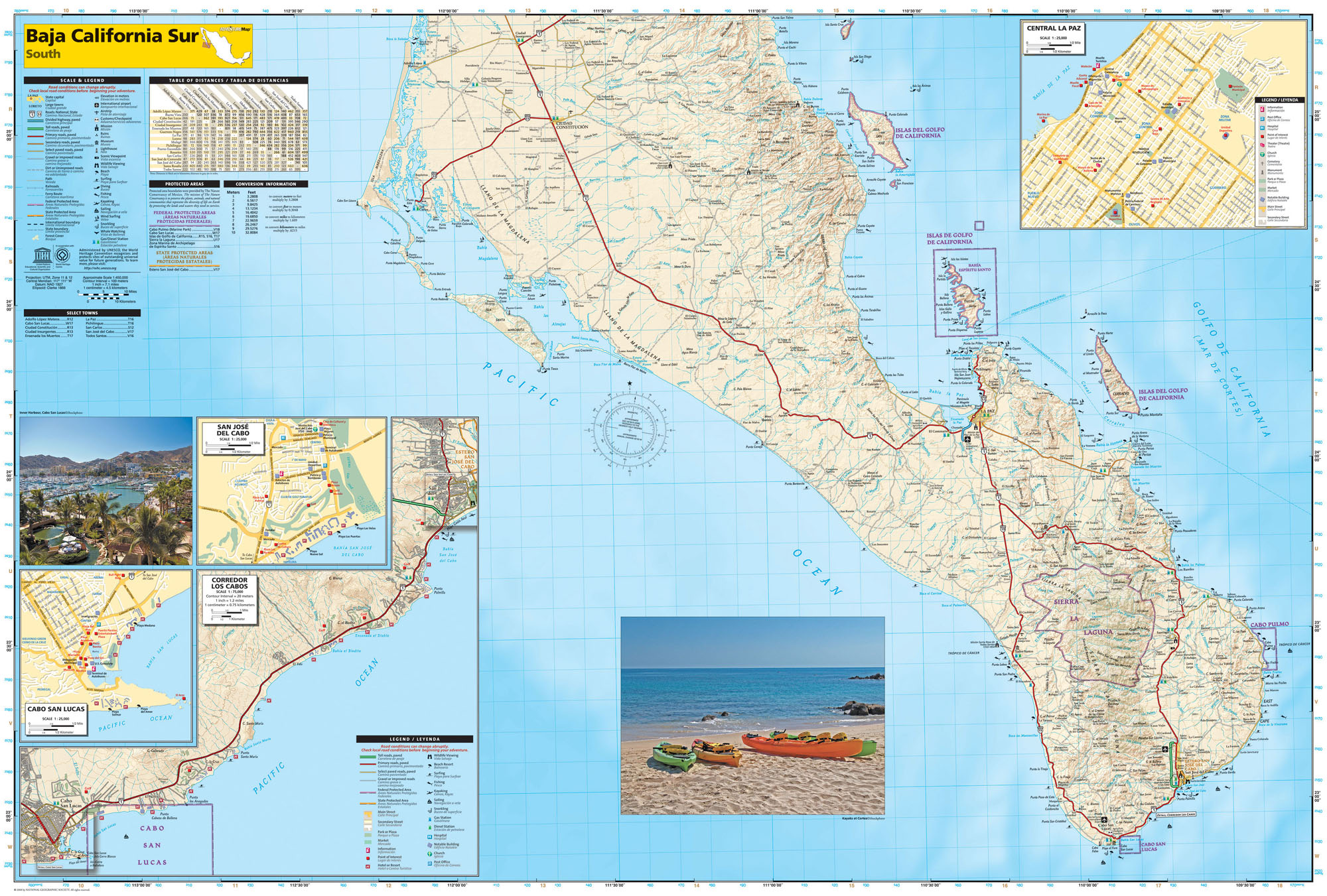 detail Baja California Jih Adventure Map GPS komp. NGS