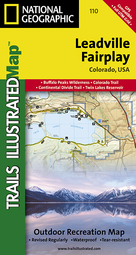 Leadville Fairplay (Colorado) turistická mapa GPS komp. NGS