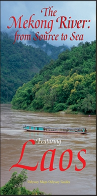 The Mekong River: from source to sea, featuring Laos map