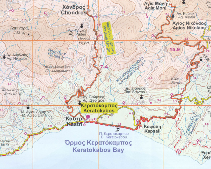 Iraklio Lasithi Plateau Kreta 1 50 000 Turisticka Mapa Orama