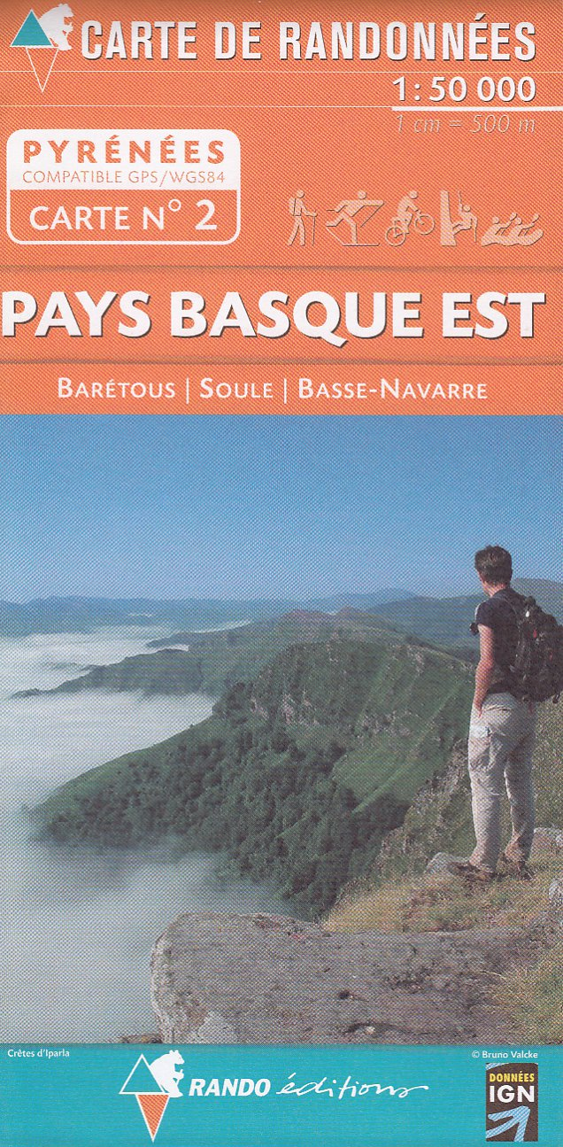 detail #2 Pays Basque East 1:50t mapa RANDO