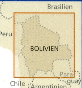 detail Bolívie 1:1,3m mapa RKH