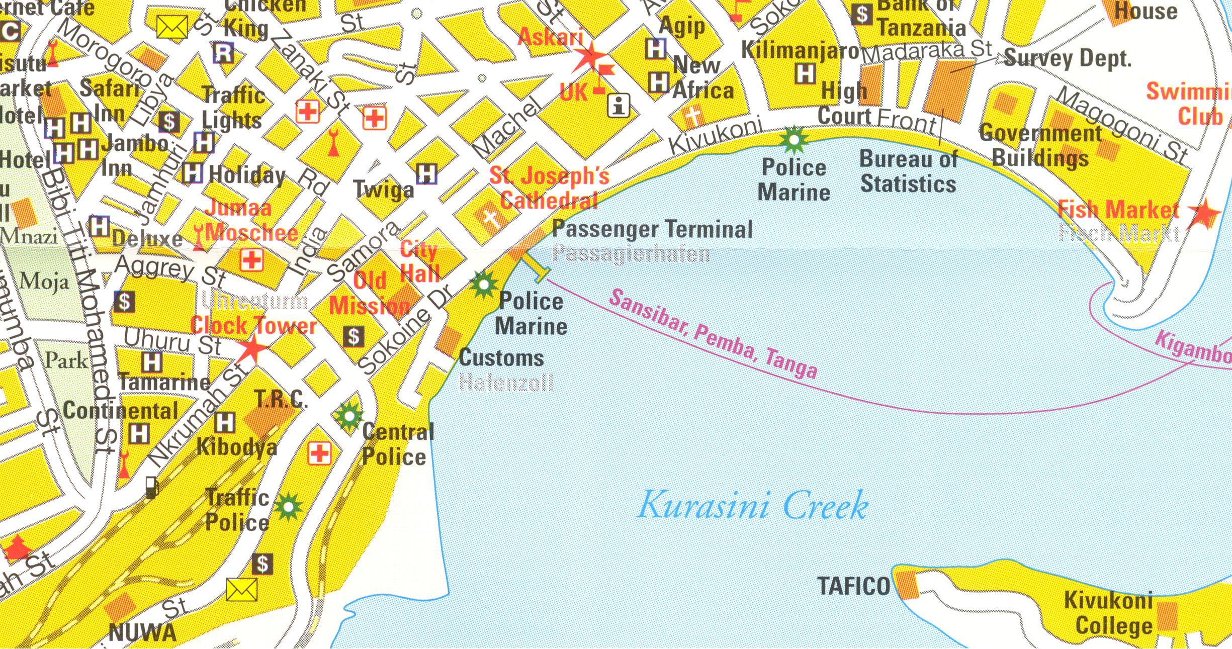Tansania Straßen-/Freizeitkarten, Wanderkarten, …