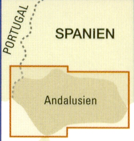 detail Andalusie (Andalucía) 1:350t mapa RKH