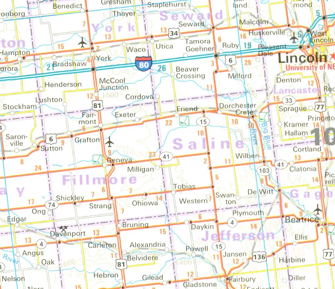USA Sever (North) Mapa 1:1,25m RKH