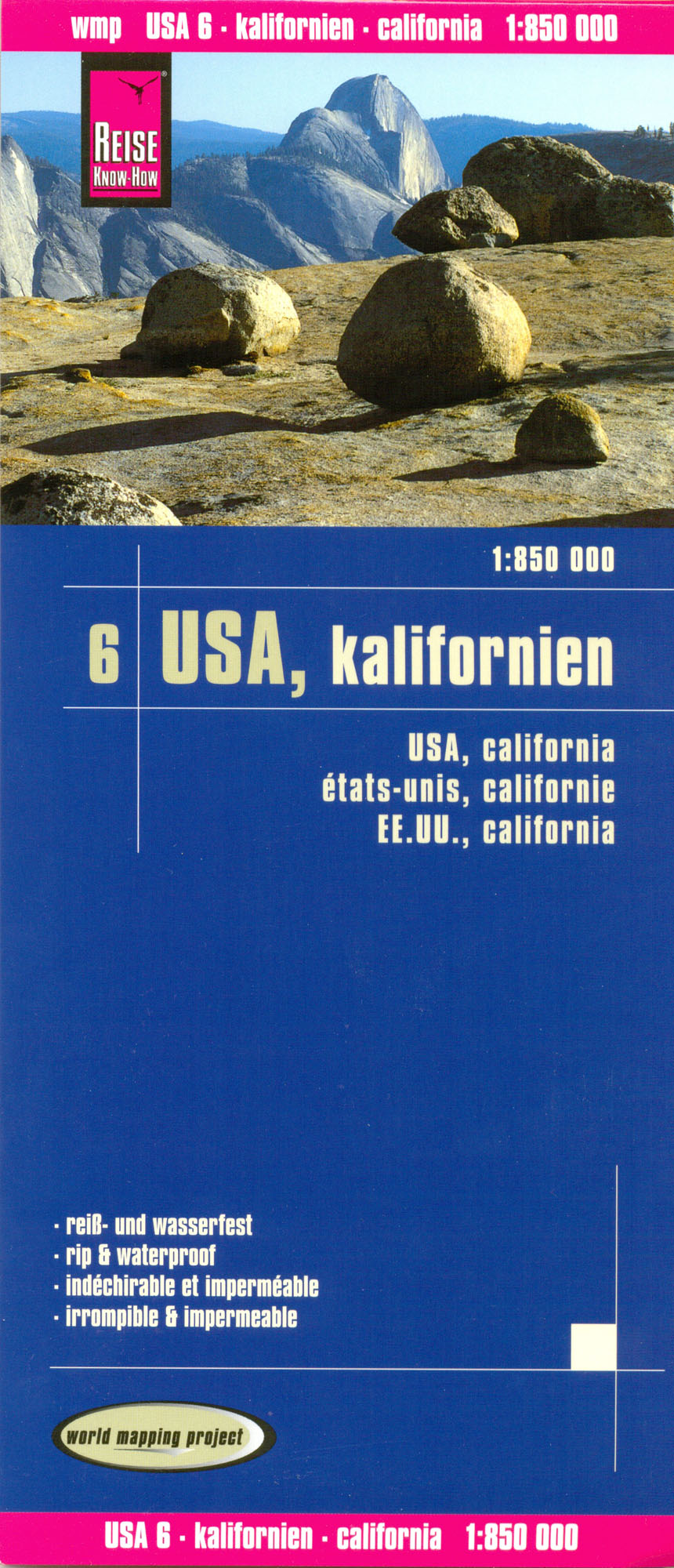 USA #6 Kalifornie (California) 1:850t mapa RKH
