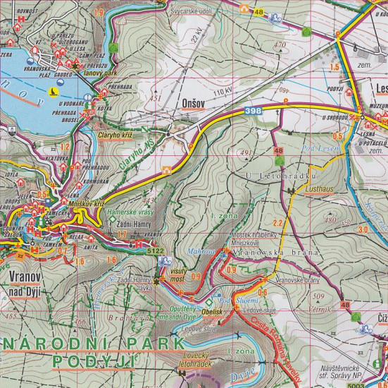 Podyji Thayatal Vranovska Prehrada 1 50t Turisticka Mapa 53 Sc
