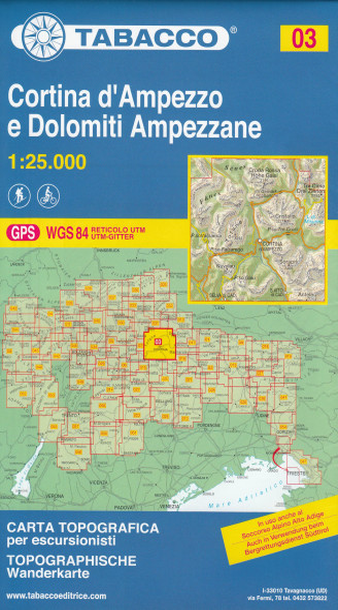 Cortina D Ampezzo E Dolomiti Ampezzane 1 25 000 Turisticka Mapa