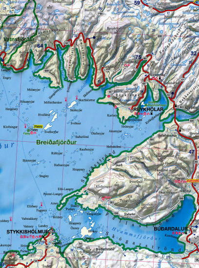 detail Island (Iceland) Map & Guide 1:615.000 TQ