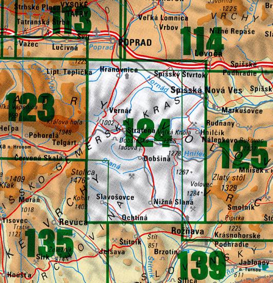 Slovensky Raj 1 50 000 Turisticka Mapa 124 Vku International